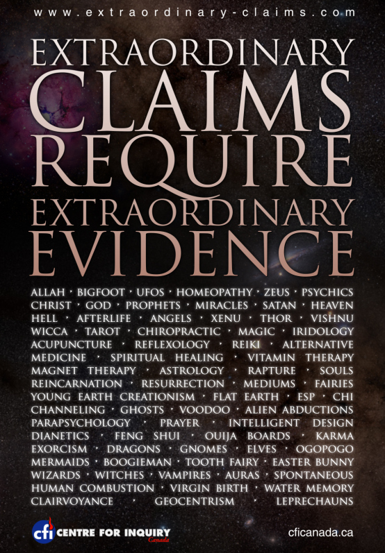 Extraordinary Claims Website