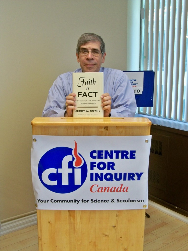 Jerry Coyne was at CFIC T.O. on June 10th, 2015