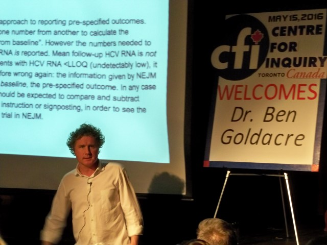 Dr. Ben Goldacre was in Toronto, Sunday May 15th