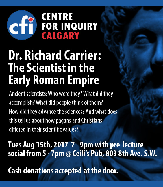 Dr. Richard Carrier – The Scientist in the Early Roman Empire